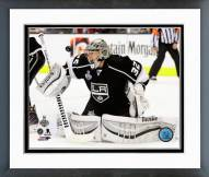 Los Angeles Kings Jonathan Quick Game 2 of the 2014 Stanley Cup Finals Framed Photo