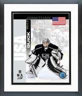 Los Angeles Kings Jonathan Quick USA Portrait Plus Framed Photo