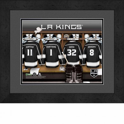 Los Angeles Kings Personalized Locker Room 13 x 16 Framed Photograph