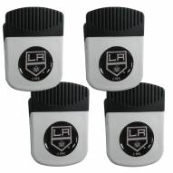 Los Angeles Kings 4 Pack Chip Clip Magnet with Bottle Opener
