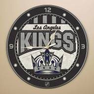 Los Angeles Kings Stained Glass Wall Clock