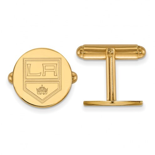 Los Angeles Kings Sterling Silver Gold Plated Cuff Links