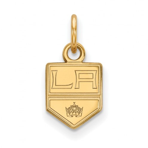Los Angeles Kings Sterling Silver Gold Plated Extra Small Pendant