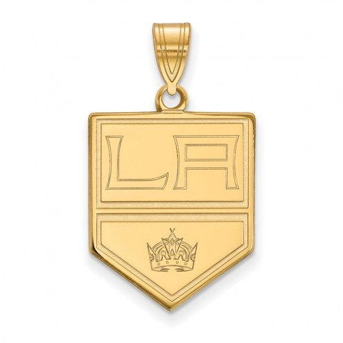 Los Angeles Kings Sterling Silver Gold Plated Large Pendant