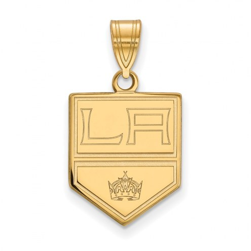 Los Angeles Kings Sterling Silver Gold Plated Medium Pendant