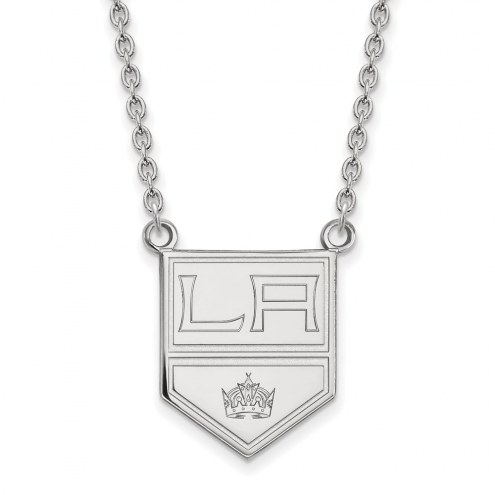 Los Angeles Kings Sterling Silver Large Pendant Necklace