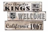 Los Angeles Kings Welcome 3 Plank Sign
