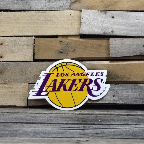"Los Angeles Lakers 12"" Steel Logo Sign"