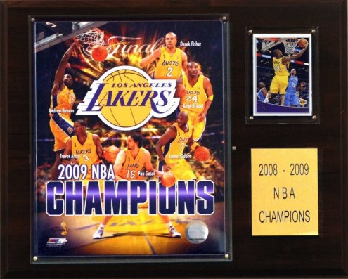 "Los Angeles Lakers 12"" x 15"" 2009 NBA Champions Plaque"