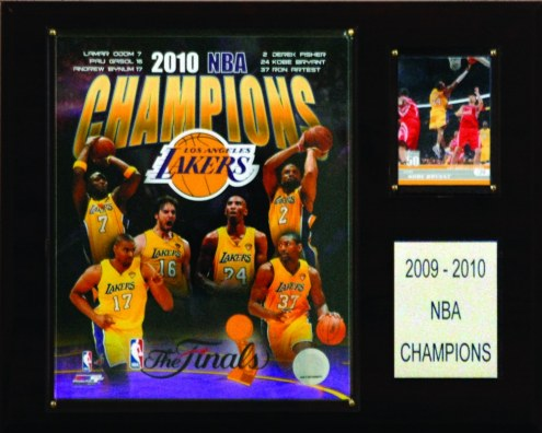"Los Angeles Lakers 12"" x 15"" 2010 NBA Champions Plaque"