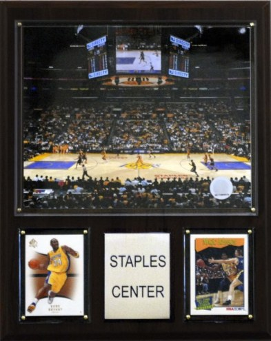 "Los Angeles Lakers 12"" x 15"" Staples Center Arena Plaque"