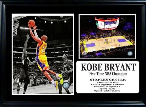 "Los Angeles Lakers 12"" x 18"" Kobe Bryant Photo Stat Frame"