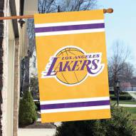 Los Angeles Lakers Applique 2-Sided Banner Flag