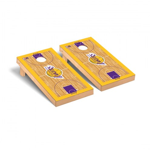 Los Angeles Lakers Basketball Court Cornhole Game Set