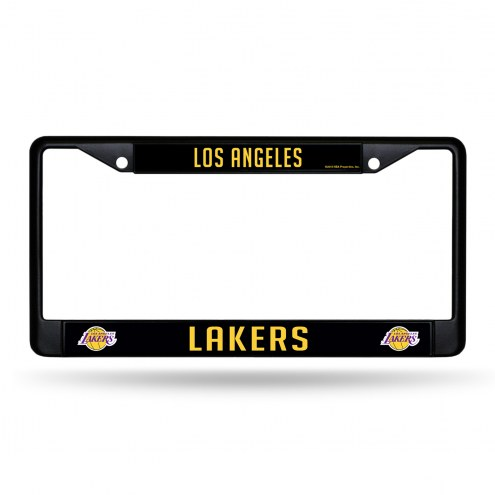 Los Angeles Lakers Black Metal License Plate Frame