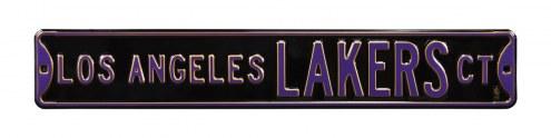 Los Angeles Lakers Black Street Sign
