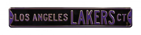Los Angeles Lakers Black Street Sign
