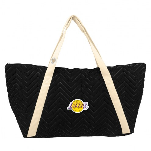 Los Angeles Lakers Chevron Stitch Weekender Bag