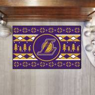 Los Angeles Lakers Christmas Sweater Starter Rug