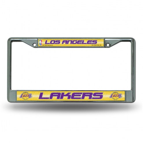 Los Angeles Lakers Chrome Glitter License Plate Frame