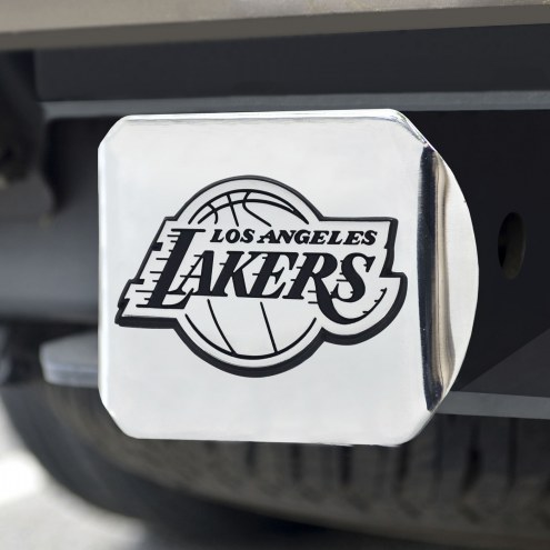 Los Angeles Lakers Chrome Metal Hitch Cover
