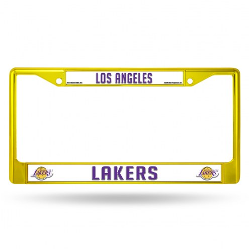 Los Angeles Lakers Colored Chrome License Plate Frame