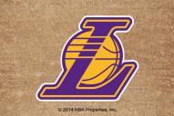 Los Angeles Lakers Colored Logo Door Mat