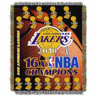 Los Angeles Lakers Commemorative Champs Throw Blanket