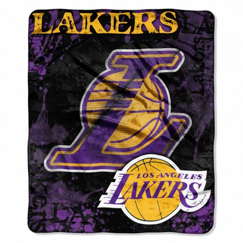Los Angeles Lakers Drop Down Raschel Throw Blanket