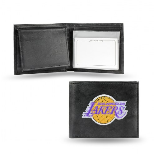 Los Angeles Lakers Embroidered Leather Billfold Wallet