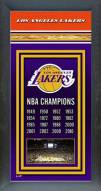 Los Angeles Lakers Framed Championship Print