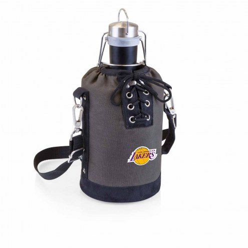 Los Angeles Lakers Insulated Growler Tote with 64 oz. Stainless Steel Growler