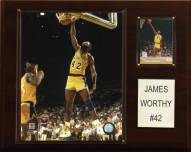 """Los Angeles Lakers James Worthy 12"""" x 15"""" Player Plaque"""