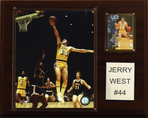"""Los Angeles Lakers Jerry West 12"""" x 15"""" Player Plaque"""
