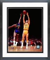 Los Angeles Lakers Jerry West 1975 Action Framed Photo