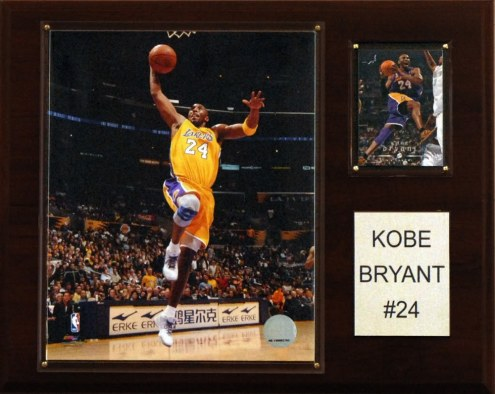 "Los Angeles Lakers Kobe Bryant 12"" x 15"" Player Plaque"