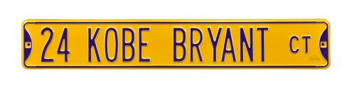 Los Angeles Lakers Kobe Bryant Street Sign
