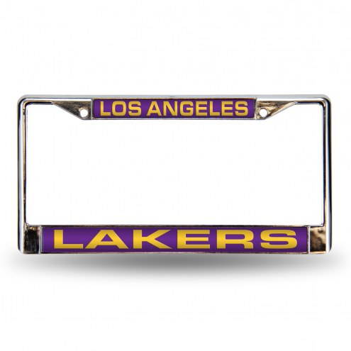 Los Angeles Lakers Laser Chrome License Plate Frame
