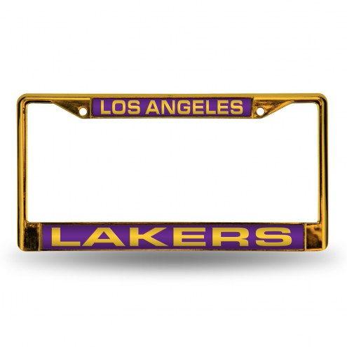 Los Angeles Lakers Laser Colored Chrome License Plate Frame