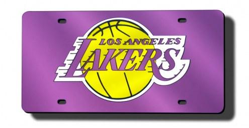 Los Angeles Lakers Laser Cut Purple License Plate