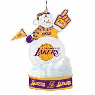 Los Angeles Lakers LED Snowman Ornament