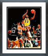 Los Angeles Lakers Magic Johnson 1985 Action Framed Photo
