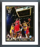 Los Angeles Lakers Magic Johnson 1990 Action Framed Photo