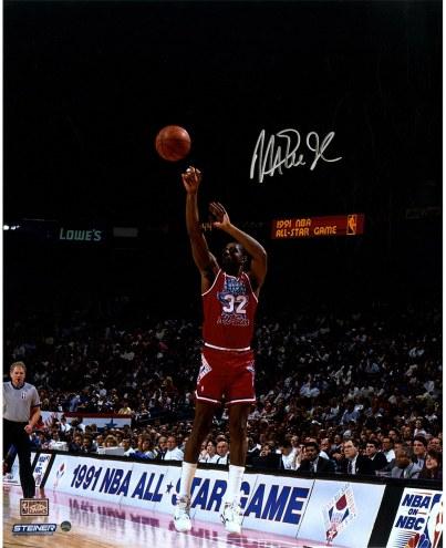 "Los Angeles Lakers Magic Johnson 1991 All-Star Game Jump Shot Signed 16"" x 20"" Photo"