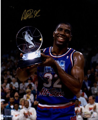 "Los Angeles Lakers Magic Johnson 1992 All-Star Game MVP Signed 16"" x 20"" Photo"