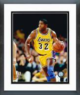 Los Angeles Lakers Magic Johnson Ball in Left Hand Framed Photo