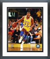 Los Angeles Lakers Magic Johnson Ball in Right Hand Framed Photo