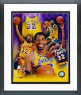Los Angeles Lakers Magic Johnson Legend of the Game Composite Framed Photo