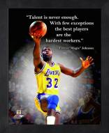 Los Angeles Lakers Magic Johnson Framed Pro Quote
