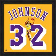 Los Angeles Lakers Magic Johnson Uniframe Framed Jersey Photo